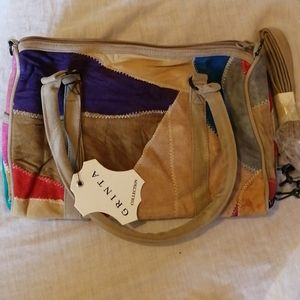 NWT Grinta collection suede bag